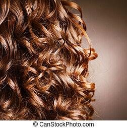 rizado, .natural, onda, pelo, hair., hairdressing.