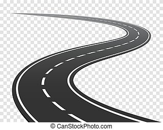 road., tráfico, viaje, bobina, highway., curvo