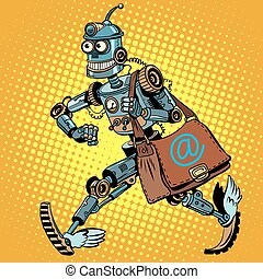 robot, envío, automático