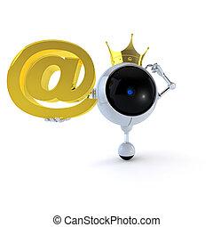 Robot guarda el correo