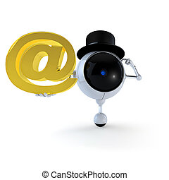 Robot guarda la señal de correo