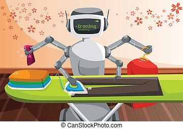 Robot planchando ropa