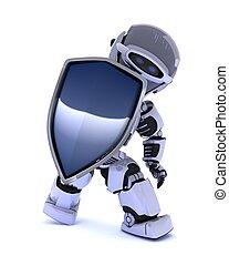 robot, protector