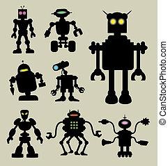 Robot siluetas 1