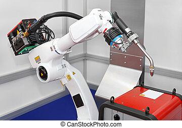Robot soldando
