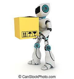 Robot y cable de computadora