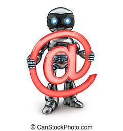 Robot y firma el correo