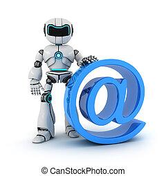 Robot y @