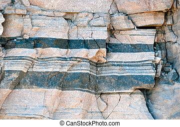 roca, patrón, /, plano de fondo, gneis