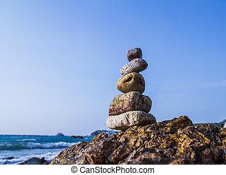 rocas, costa, mar, naturaleza