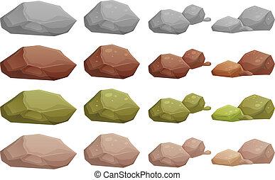 Rocas diferentes