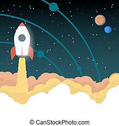 Rocket va al espacio
