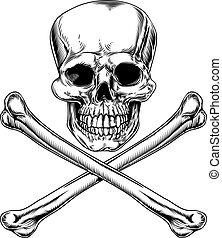roger alegre, crossbones de cráneo