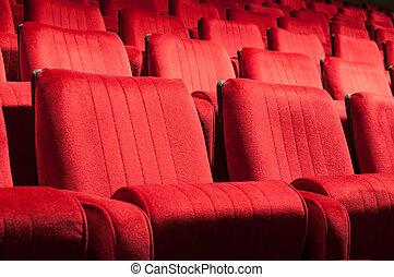 rojo, asientos