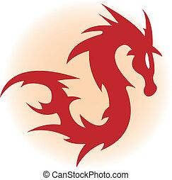 rojo, dragón