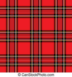 rojo, patrón, tartán