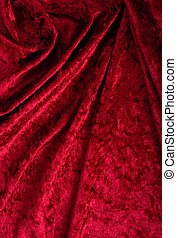 rojo, terciopelo, plano de fondo