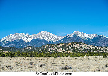 roky, montañas, vista, colorado, vistas