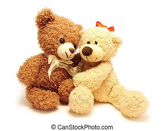 romántico, teddy-bears