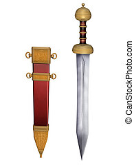 Roman Gladius con costra
