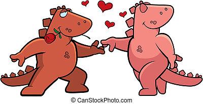 romance, dinosaurio