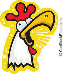 Rooster cacareando
