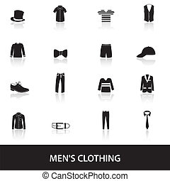 ropa negra, eps10, mens
