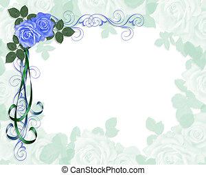 Ropas azules de boda