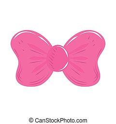 rosa, caricatura, icono, lindo, decoración, arco obsequio