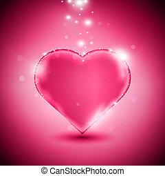 rosa, corazón