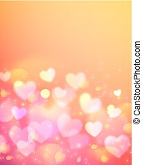 rosa, efecto, bokeh, vector, plano de fondo, brillar