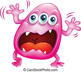 rosa, gritos, because, monstruo, frustración