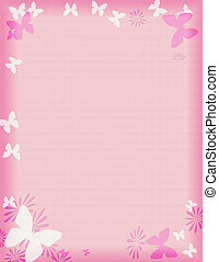 rosa, mariposa, frontera