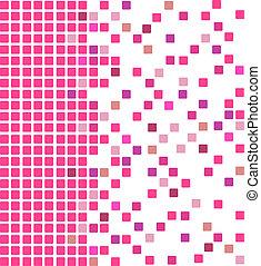 rosa, mosaico, plano de fondo