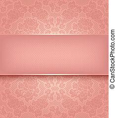 rosa, ornamental, encaje, plano de fondo, flores, plantilla