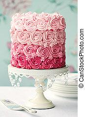 rosa, pastel, ombre