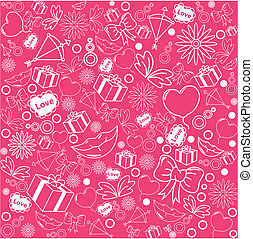 rosa, patrón, plano de fondo, seamless, valentines