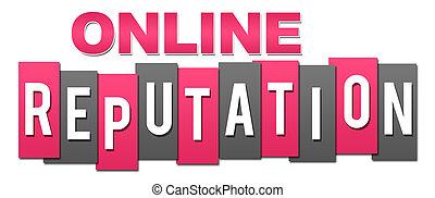 rosa, profesional, en línea, gris, reputación