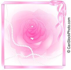 Rosa rosa y perla
