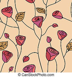 Rosa sin costura rosa