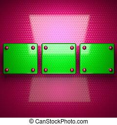 Rosa y verde brillante fondo