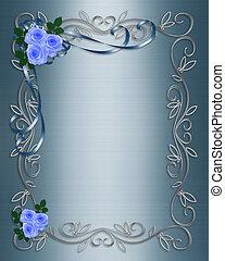 Rosas azules boda