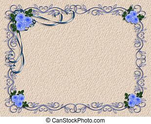 Rosas azules bordean la frontera