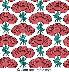 Rosas de dibujos animados veloces