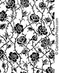 Rosas negras. Patrón sin sentido