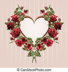 rosas rojas, armazón