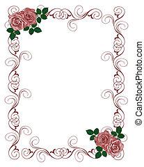 Rosas rojas de boda