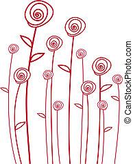 Rosas rojas, vector
