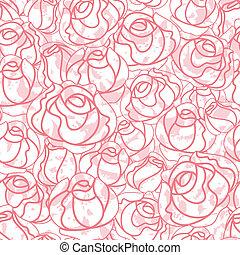 rosas, seamless, fondo, patrón