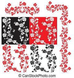 Rosas, un conjunto de 4 patrones sin marcas